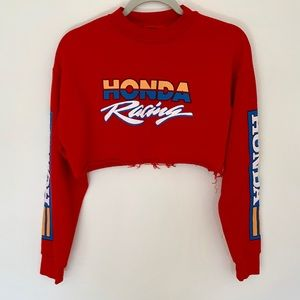 F21 red HONDA sweater